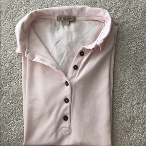 Burberry polo shirt.